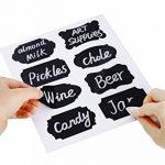 Eachgoo Etiquettes de Cuisine,64 réutilisables Autocollants Étiquette Tableau Noir pour Bouteilles, Verres,étiquettes de cadeau avec Marqueurs Craie Liquide de la marque Eachgoo image 3 produit