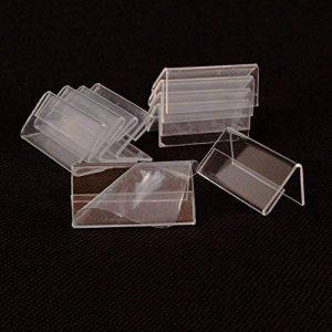 Earlywish MINI Affichage du signe 50pcs Porte-cartes Étiquette de prix Étiquette stand 4cm x 2cm de la marque Earlywish image 0 produit