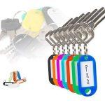 Elebor 100 Packs Porte-clés en plastique multi-couleurs FOB ID étiquettes étiquettes d'identification de bagage avec anneau porte-clés porte-clés, 10 couleurs aléatoires de la marque Elebor image 3 produit