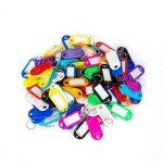 Elebor 100 Packs Porte-clés en plastique multi-couleurs FOB ID étiquettes étiquettes d'identification de bagage avec anneau porte-clés porte-clés, 10 couleurs aléatoires de la marque Elebor image 1 produit