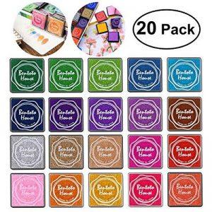 Encre Tampons Empreinte Multicolores pour Enfants DIY, 20pcs de la marque ULTNICE image 0 produit