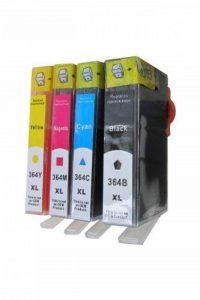 ESMOnline 364BK XL 364C XL 364M XL & 364Y XL Pack de 4 cartouches d'encre XL avec puce compatibles avec imprimante HP DeskJet 3520 e-All-in-One Noir/cyan/magenta/jaune de la marque ESMOnline image 0 produit
