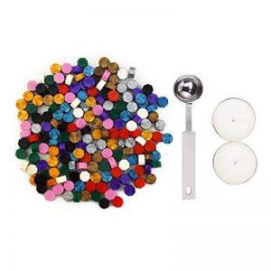 Esnow 180 pièces Perles de cire réticentes réticulaires avec 1 pièce de cire en fusion et 2 pièces Bougies 10 couleurs de la marque Esnow image 0 produit