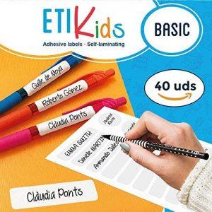 ETIKids 40 Étiquettes adhésives laminées personnalisables polyvalentes (basic) pour la garderie et l'école. de la marque Haberdashery Online image 0 produit