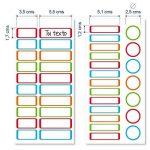 ETIKids 40 Étiquettes adhésives laminées personnalisables polyvalentes (color) pour la garderie et l'école de la marque Haberdashery Online image 4 produit