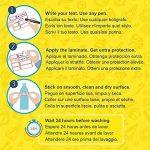 ETIKIDS 40 Étiquettes adhésives laminées personnalisables polyvalentes pour la garderie et l'école. (color) de la marque Haberdashery Online image 2 produit