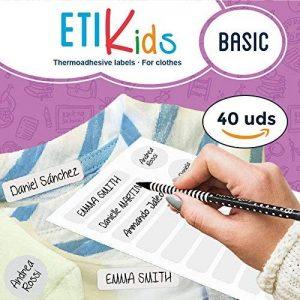 ETIKids 40 Étiquettes de vêtements personnalisables pour la garderie et l'école. (basic) de la marque Haberdashery Online image 0 produit