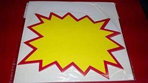 Etiquette fluo 240x170mm - lot de 10ex de la marque panneauxsignalétiques.fr image 0 produit