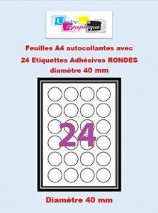 etiquettes autocollantes rondes blanches TOP 8 image 0 produit