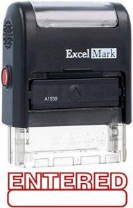 Excelmark entré auto-encreur Tampon en caoutchouc–ENCRE Rouge (42a1539web-r) de la marque ExcelMark image 0 produit