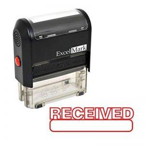 Excelmark Reçues auto-encreur Tampon en caoutchouc–ENCRE Rouge (42a1539web-r) de la marque ExcelMark image 0 produit