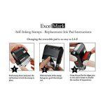 Excelmark Veuillez signer et retour auto-encreur Tampon en caoutchouc–ENCRE Rouge (42a1539web-r) de la marque ExcelMark image 2 produit