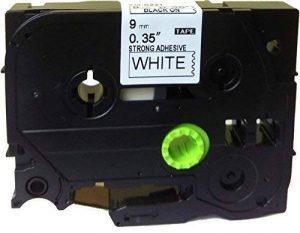 Extra Strenth adhésif Noir sur blanc étiquette ruban Compatible pour BROTHER TZ S221TZe S221P-Touch de 9mm 8m de la marque Generic Supplies image 0 produit