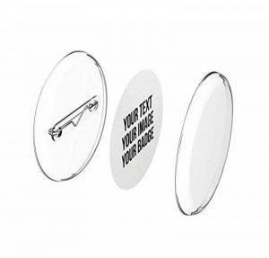 Faire ses badges personnalisés 30mm, avec épingle sans machine (lot de 50) et avec papier à imprimer de la marque mia mai Buttons image 0 produit