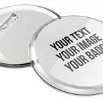 Faire ses badges personnalisés 56mm, avec épingle sans machine (lot de 10) et avec papier à imprimer de la marque mia mai Buttons image 4 produit