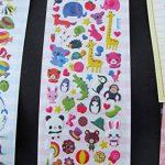 Fat Catz Copy Catz Lot de 5 planches d'autocollants en relief aléatoires avec motifs animaux oiseaux chats pandas de la marque fat-catz-copy-catz image 2 produit