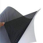 """Film adhésif en vinyle perforé pour fenêtre afin de préserver son Intimité., Vinyle, noir, 1.22m*0.5m(4ft * 20"""") de la marque HOHO image 3 produit"""