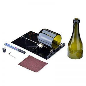 FIXM Kit Coupe-Bouteille de Vin, Outil de Coupe du Verre de Bouteille de Vin Longue, Appareil de Découpe Incision pour Bricolage Recyclage des Bouteilles de Vin, de Bière - Noir de la marque FIXM image 0 produit