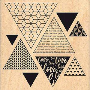 Florilèges Design Tampon Triangles Déco, Bois, Couleur Bois, 10 x 10 x 2,5 cm de la marque Florilèges Design image 0 produit