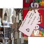G2plus Lot de 100 étiquettes pour cadeau en papier Kraft de 5x 10cm - étiquettes vierges pour mariage, anniversaire, bagages - étiquettes marron à accrocher avec 30mètres de ficelle de jute blanc de la marque G2PLUS image 4 produit