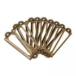 Gazechimp 50pcs Cadre Etiquette de Nom Porte-étiquette Poignée pour Porte Tiroir Armoire - Laiton de la marque Gazechimp image 0 produit
