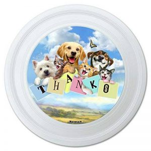 Graphique et Plus Chien et Chat grce Thank You Selfie Fantaisie 22,9 cm Flying Disc de la marque Graphics and More image 0 produit