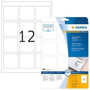Herma 10109 Étiquettes carrées movables/amovibles 60 x 60 A4 300 pièces Blanc de la marque HERMA image 0 produit