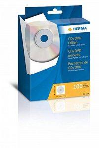 Herma -1140-100 Pochettes autocollantes en papier pour CD avec fenêtre 124 x 0,1 x 124 mm (Blanc) (Import Allemagne) de la marque HERMA image 0 produit