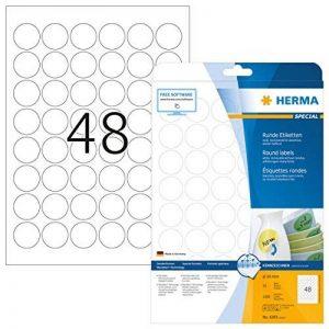 Herma 4387 Étiquettes movables/amovibles diamètre 30 A4 1200 pièces Blanc de la marque HERMA image 0 produit