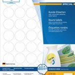 Herma 4387 Étiquettes movables/amovibles diamètre 30 A4 1200 pièces Blanc de la marque HERMA image 2 produit