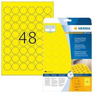 Herma Special A4 30mm rond Etiquette de signalisation adhésion forte - Jaune (Lot de 1200) de la marque HERMA image 0 produit