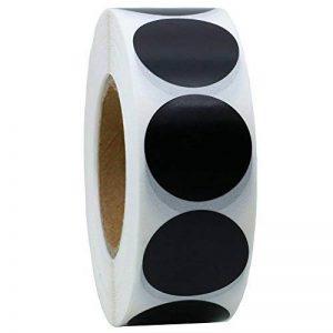 hybsk CODE COULEUR Étiquettes à pois 25mm rond Naturel papier autocollants étiquette adhésive 1000par rouleau noir de la marque Hybsk image 0 produit