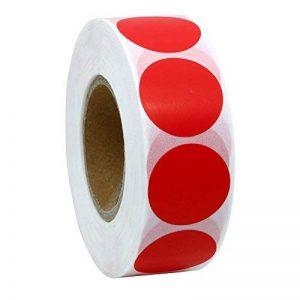 hybsk CODE COULEUR Étiquettes à pois 25mm rond Naturel papier autocollants étiquette adhésive 1000par rouleau rouge de la marque Hybsk image 0 produit