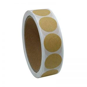 hybsk rond Sticker Papier Kraft étiquettes Joints emballage Loisirs Créatifs Mariage Étiquette pour Total 500étiquettes par rouleau 1 roll de la marque Hybsk image 0 produit