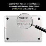 iDOO Coque Rigide en Mat givré en caoutchouc [Pour MacBook Pro 13 pouces Retina - Sans lecteur CD: A1425 / A1502] - Marbre Blanc de la marque iDOO image 3 produit