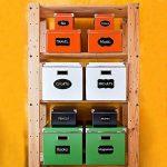 iFergoo Noir Kitchen Labels - 120 pièces d'autocollants réutilisables avec 1 marqueurs de craie effaçables pour étiqueter les bouteilles,Mason Jar, les flacons et d'autres récipients afin de mettre en ordre votre maison, cuisine et bureau de la marque iFe image 2 produit