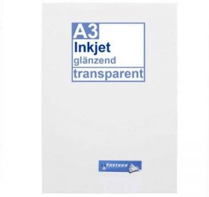 Inkjet lot de 10 film autocollants transparent format a3 à imprimer de la marque Faxland image 0 produit
