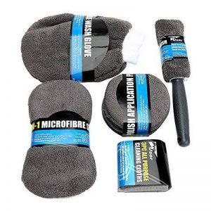 Itimo en microfibre Lavage de voiture Nettoyage en microfibre de kit Inclut les Tampons de serviettes éponge Gant de toilette Brosse de roue de la marque iTimo image 0 produit
