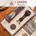J.Herbin, 1 Set de cire traditionnelle + sceau fleur de Lys de la marque Herbin image 4 produit