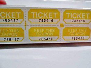 Jaune des billets de loterie 250graines Prefolded–Made in USA. de la marque Tickets image 0 produit
