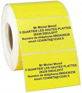 Jintora Nom autocollants/étiquettes d'adresse - 40x22 mm - 1000 pièce - jaune imprimé avec du noir - papier adhésif de la marque JINTORA image 0 produit