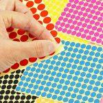 JTDEAL 10 Feuilles 1650Pcs Couleur Rond Étiquettes Points Autocollants, Diamètre Dot:10MM Gommettes 10 Couleurs Étiquettes idéal pour Identification, Boîte, Artisanat et Jeux de la marque JTDEAL image 1 produit
