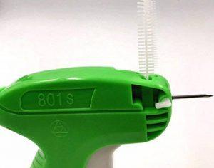 JZK Etiqueteuse Pistolet d'Etiquettes Prix Etiquettes de Marque de Vêtement avec 1000pcs fils Paddle (blanc ,5cm) + 5pcs aiguilles de rechange de la marque JZK image 1 produit
