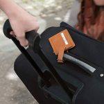 kalibri Étiquette Cuir Valise - Tag Porte-étiquettes Bagage Sac de Voyage Carte nom adresse - Couleur Cognac - env. 10 x 7 cm de la marque kalibri image 1 produit
