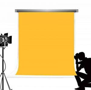 KateHome PHOTOSTUDIOS Kate Abstrait Fond Retro Solide Couleur Jaune Photographie Photo de Toile de Fond pour Studio de Naissance Nouveau Tir 5x7ft / 1.5x2.2m de la marque KateHome PHOTOSTUDIOS image 0 produit