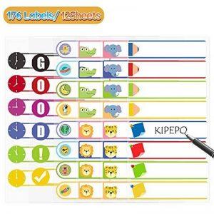 KIPEPO Autocollant Nom Labels Nom du Kit Étiquette Autocollantes 16 par feuille Imperméable à l'eau pour Enfants Bouteilles Ecoliers Papeterie et HomeCare (176 Étiquettes) de la marque KIPEPO image 0 produit