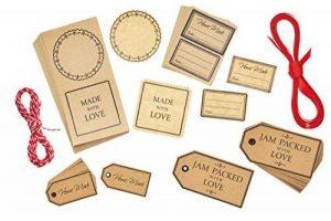 Kitchen Craft Home Made Ensemble affichettes et étiquettes Cadeaux (122 pièces) de la marque Kitchen Craft image 0 produit