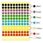Kuuqa 20 Feuilles Autocollant adhésif autocollant Labels Étiquette de codage couleur ronde 8mm, 7 Couleurs, 2600 points de la marque KUUQA image 2 produit