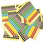 Kuuqa 20 Feuilles Autocollant adhésif autocollant Labels Étiquette de codage couleur ronde 8mm, 7 Couleurs, 2600 points de la marque KUUQA image 4 produit