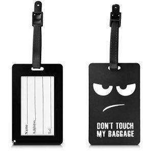 kwmobile Étiquette bagage pour valise - Tag porte-étiquettes pour valise et sac de voyage avec carte nom adresse numéro - design de la marque kwmobile image 0 produit